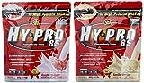 All stars Hy-Pro 85 Beutel 2er Mix Pack (2 x 500 g) Vanille/Himbeer-Quark, 1er Pack (1 x 1 kg)