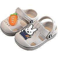 Hopscotch Boys and Girls Eva Bunny Applique Clogs in Gray Color