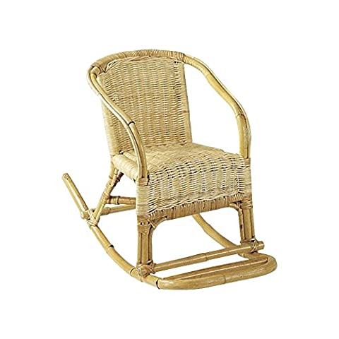 Rocking-chair enfant en rotin Dimensions : 40 x 75 x 52