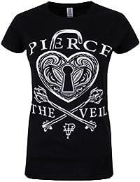 Pierce The Veil Heart Lock Girls shirt black L