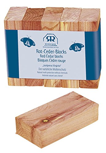 Redecker Red Cedar Wood Blocks, 5 pcs Set (100 Cedar öl)