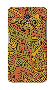 CimaCase Abstract Designer 3D Printed Case Cover For Micromax Canvas Fire 4G Q411