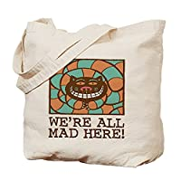 CafePress - Cheshire Cat - Natural Canvas Tote Bag, Cloth Shopping Bag