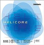 D\'Addario Bowed Corde seule (Ré) pour contrebasse orchestre D\'Addario Helicore, manche 3/4, tension Light