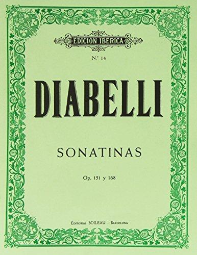 11 Sonatinas para piano, Op.151 y 168 por Antonio Diabelli