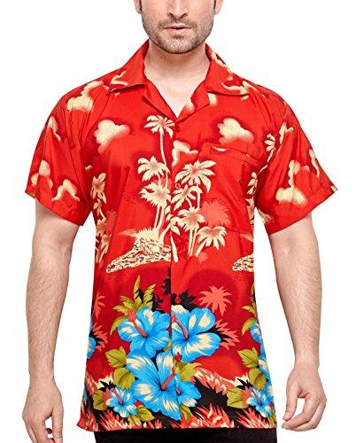SWEET-NECTAR-Camisa-hawaiana-florar-casual-manga-corta-ajustado-para-hombre-XXL