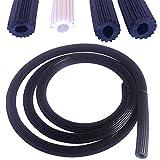 0,90€/m Meterware Gummi Keder 4,2mm für Fliegengitter in schwarz aus Kunststoff PVC rund für Spannrahmen als Kedergummi Kederschnur Schnur Ersatzteil Zubehör (5m-S-4,2)
