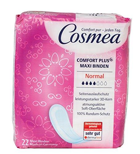 Cosmea Comfort Plus Maxi Binden, 3D-Kern, Normal, 6er Pack (6 x 22 Stück)