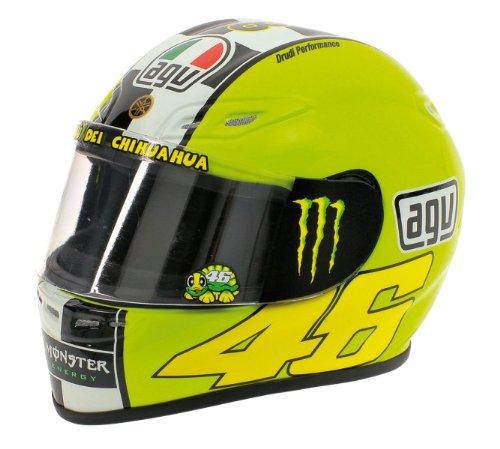 AGV - Modellino del casco di Valentino Rossi, MotoGP 2009, test invernali, scala 1:2