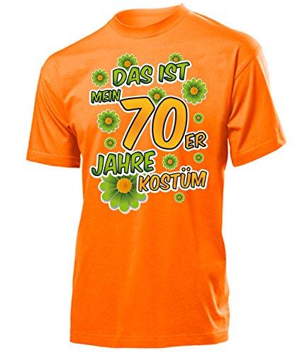 70er Jahre Kostüm Herren T Shirt Motto Schlager Party Karneval Fasching Verkleidung Schlagerkleidung Mottoparty Paar Deko Disco Weste Hut (70er Jahre Kostüme)