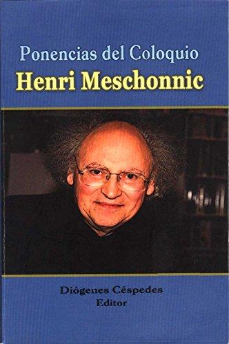 PONENCIAS DEL COLOQUIO HENRI MESCHONNIC