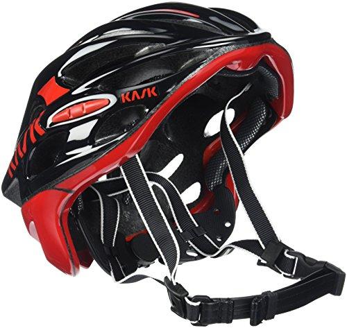 Kask - Mojito 16 - Fahrradhelm, Erwachsene, Schwarz / Rot, M (52-58 cm)