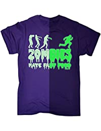 glow in the dark 123t Men's GLOW IN THE DARK ZOMBIES HATE FAST FOOD LOOSE FIT T-SHIRT