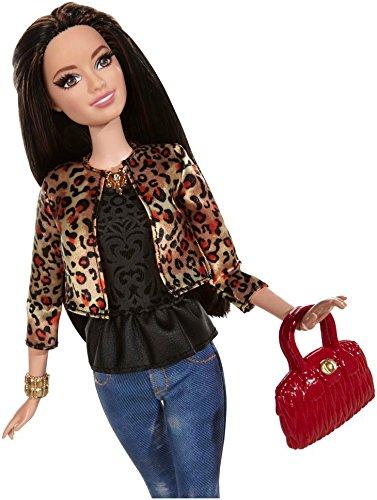 Mattel Barbie Style Raquelle Doll, Leopard Print Jacket