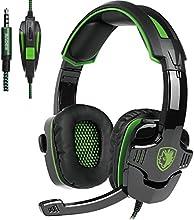 SADES SA930 Auriculares cerrados (Con Micrófono) Estéreo Auriculares Para Gaming 3.5MM Control de volumen Para PC/PS4/smartphones/tablets/nuevo xbox one (Negro&Verde)