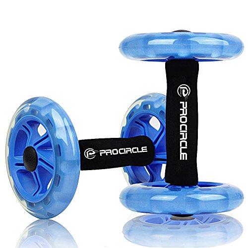 PROCIRCLE-Ab-Roller-Rueda-Abdominal-Double-Ab-wheel-Entrenamiento-para-Abs-Espalda-Brazos-Hombros-Torso-Caderas-Libre-Cojn-Del-Arrodillamiento