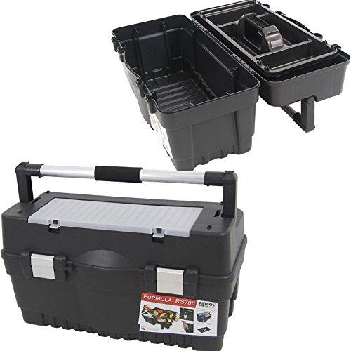 Kunststoff Werkzeugkoffer Formula RS ALU 700 Soft, 59,5x29cm Kasten Werzeugkiste Sortimentskasten Werkzeugkasten Anglerkoffer - 8