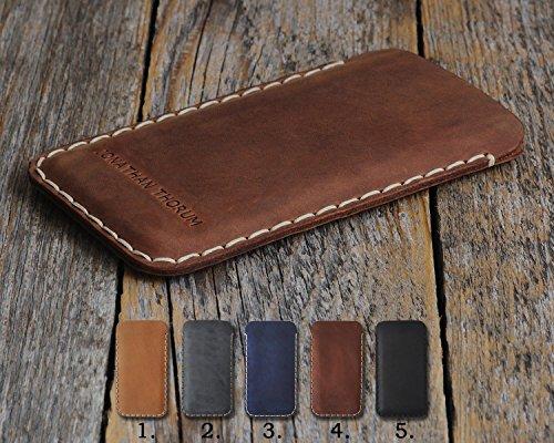 HTC Hülle Leder Tasche Cover Case personalisiertes Etui durch Prägung mit ihrem Namen.Für U11+ U11 Life X10 U Play Ultra Desire 555 650 10 Evo Bolt pro Lifestyle One a9s Prime 628 830 825 630 530 626