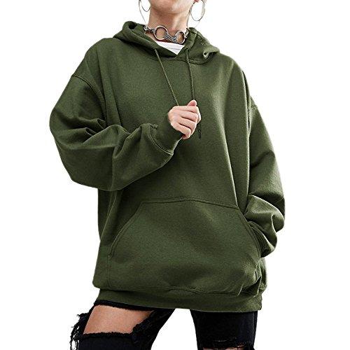 Kapuzenpulli, Amcool Mode Brief Drucken Kapuzenpullover Mantel Oberbekleidung Tops (M, Armeegrün)
