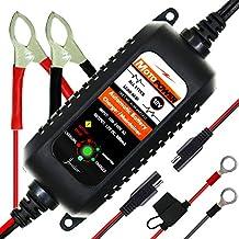 MOTOPOWER MP0205A 12V 800mA Cargador de batería automático/Mantenedor para automóviles, Motocicletas, ATVs
