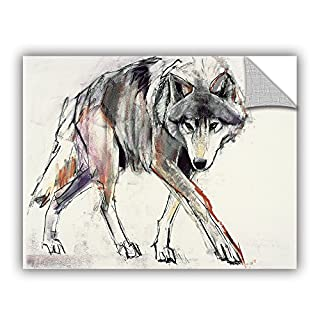wall art ArtWall Mark Aldington's Wolf Art Appeelz Removable Graphic, 18