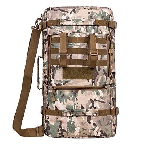 AMOS Outdoor-Bergsteigen Tasche Männer und Frauen Rucksack große Kapazität 45L / 60L Reisen Wandern Rucksack Freizeitsport Tarnung Tasche CP