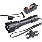 T20 IR 850NM Lente a infrarossi 38mm Luce a lunga distanza Kit torcia a LED per visione notturna -Per essere utilizzato con il dispositivo di visione notturna, con montaggio su oscilloscopio