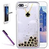 Best Necklaces Glitter - iPhone 7 Case,ISADENSER Clover Design 3D Glitter Flowing Review