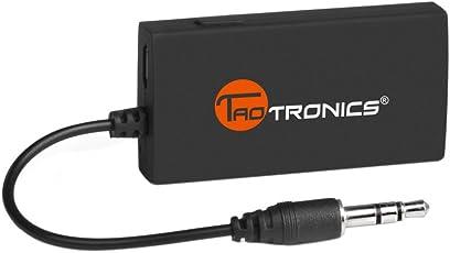 TaoTronics Bluetooth Adapter Audio Bluetooth Transmitter Sender Stereo Musik Transmitter mit 3,5mm Klinke Anschluss Auto dongle