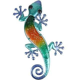 Metall Fountasia Wanddekoration Gecko gro/ß