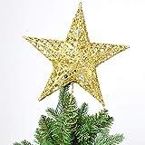 LoveLeiter Weihnachtsbaum Topper Sterne Licht, Weihnachten LED Pentagramm Lichter, Automatische Farbwechsel Baumkronen Lichter für Urlaub Dekoration, Haus, Raum, Innendekorationen
