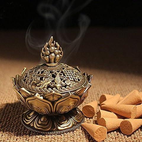 xiduobao Lotus Fleur en alliage de brûleur d