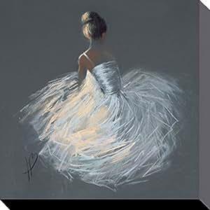 Ballet Poster Reproduction Sur Toile, Tendue Sur Châssis - Tutu, Hazel Bowman (40 x 40 cm)