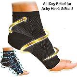 SKUDGEAR 2 Pieces (Pair) Plantar Fasciitis Compression Sleeve - Socks For Plantar Fasciitis Pain Relief, Heel...