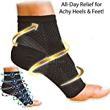 #2: SKUDGEAR 2 Pieces (Pair) Plantar Fasciitis Compression Sleeve - Socks for Plantar Fasciitis Pain Relief, Heel Pain, and Treatment for Everyday Use with Arch Support (Standard Free Size)