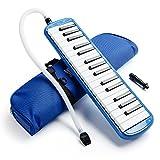 Vangoa Blau 32 Key Portable Melodica mit Tragetasche für Musikliebhaber Anfänger Geschenk