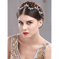 Handcess fascia opale strass capelli vite da sposa gioielli capelli per  sposa e damigelle d  5dde01f764fa