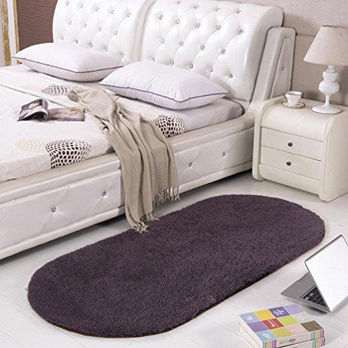 SAN QIAN WAN- Alfombra Alfombra de noche Alfombra ovalada Alfombra de dormitorio de color sólido Alfombra de dormitorio Alfombra ( Color : C , Tamaño : 80x160cm )