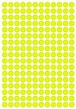 408 Klebepunkte, 15 mm, Neon gelb, aus PVC Folie, Markierungspunkte, Punkt, Vinyl, leuchtend, rund, selbstklebend