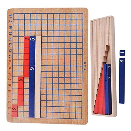 MagiDeal Montessori Addition et Division Panneau en Bois Jouets de Calcul et Mathématiques Jeu Educatif Enfants Ecole Famille 0645696537418