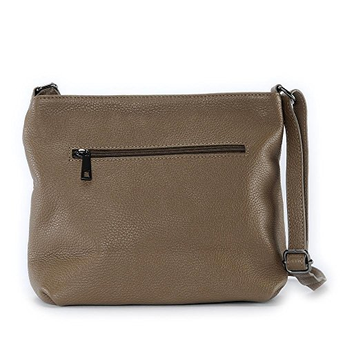 OH MY BAG London, Borsa a tracolla donna compact TAUPE FONCE