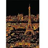 Scratch Paper Papier, Art à Gratter renommée Mondiale de Photo Paris D'architecture Enfants Adultes Bricolage fresque à la Main