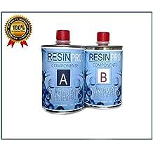 RESINA EPOSSIDICA TRASPARENTE GR 800 BICOMPONENTE A+B - SUPER TRASPARENTE EFFETTO ACQUA per creazioni trasparente (Acqua In Cemento)