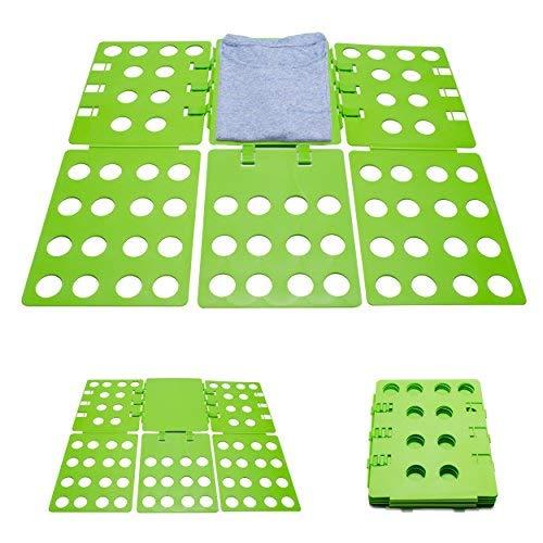 Grinscard Planche Pliable pour plisser vetêments - Vert Environ 29 x 23 x 1 cm - Support comme Aide à la Pliage Chemises Blouses