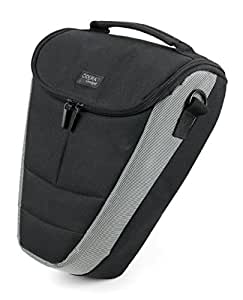DURAGADGET Portable Nylon Carry Case For Nikon D5100, D3100, D3000, D700, D3200 & D300, Canon EOS Rebel T3i, T2i, T1i, XS & T3, Sony Alpha SLT-A37, With Detachable Shoulder Strap
