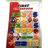 FunBlast™ (Pack Of 1) Big Magnetic Learning Numbers, Premium 123 Educational Magnets With Mathematical Symbol For Kids, Multicolor