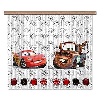 Disney AG Design Cars Kids Curtains/3D Photo Print, Polyester, Multi-Colour, 180 x 160 cm