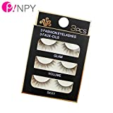 Generic 101248 : Black 3 Pairs 3D 03# False Eyelashes Women Thick False Eyelashes Fake Eye Lashes Long Black Nautral Cute Makeup Extension Tools