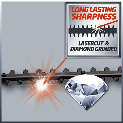 Einhell Heckenscheren-Aufsatz für Akku-Hochentaster GE-LC 18 Li T (40 cm Schnittlänge, 1.700 Schnitte/min, Messer aus lasergeschnittenem und diamantgeschliffenem Stahl, inkl. stabilem Köcher)