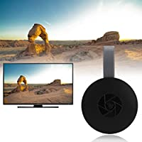 Bainuojia Wireless Display Adapter 5GHz + 2.4GHz WiFi Dongle HDMI Adaptador de Pantalla 1080P HD Soporte Google Home/DLNA/Airplay/Miracast para MacBook/Android/Windows 8.1/10/iPhone se/7/8/X, iPad